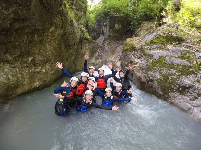 canyoning group